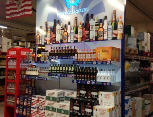 Expositor con luz Pernod Ricard